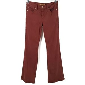 Joe's Jeans Flawless Icon Flare Mid-Rise Rust Red